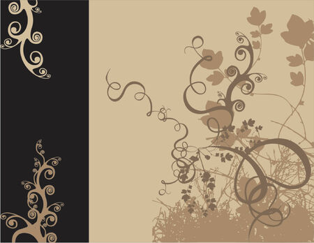 stylistic: vectorized floral design color and size as you wish