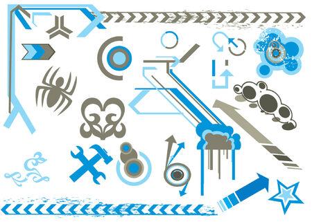 modern design elements Illustration