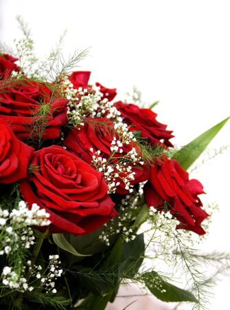 beautiful red rose bouquet Stock Photo - 961350