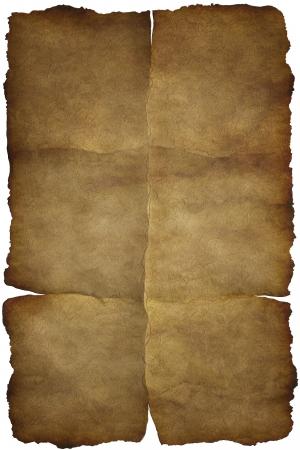 oud document: Oude vintage papier textuur of achtergrond met sporen van plooien Stockfoto