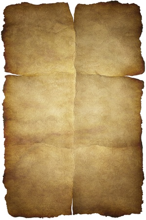 Old vintage paper texture or background with traces of folds Stock Photo