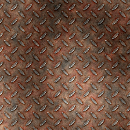 Grudge and rusted diamond metal background or template photo