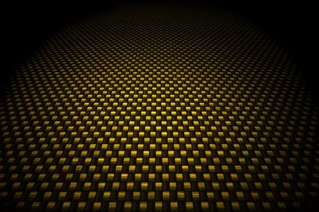 fibre: Golden carbon fiber background Stock Photo