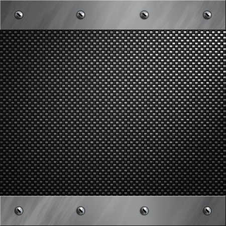 bolted: Brushed aluminum frame bolted to a carbon fiber background