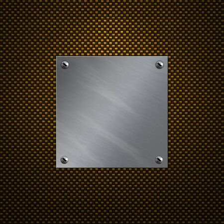 bolted: Brushed aluminum plate bolted to a carbon fiber background