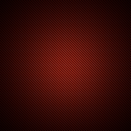 fibra de carbono: Un realista de fibra de color rojo tejido de carbono o la textura de fondo