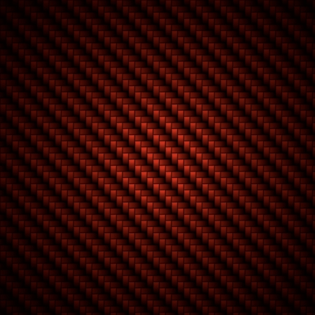 fibre: A realistic red carbon fiber weave background or texture