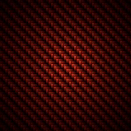 fibra de carbono: Un realista fibra de carbono rojo tejido de fondo o textura