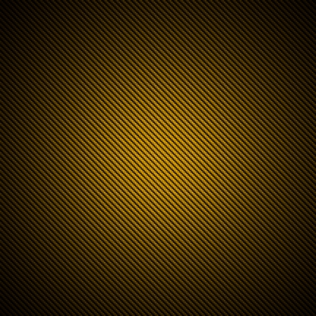 A realistic golden carbon fiber weave background or texture Stock Photo