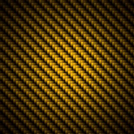 fibra de carbono: Un realista de fibra de carbono de oro tejido de fondo o la textura