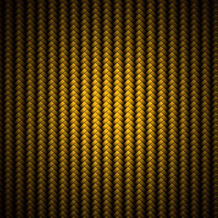 carbon fiber: Un realista de fibra de carbono de oro tejido de fondo o textura