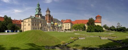 wawel: Panorama of Wawel Royal Castle in Cracow, Poland