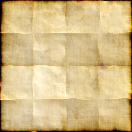 oud document: Oud papier achtergrond met sporen van plooien Stockfoto