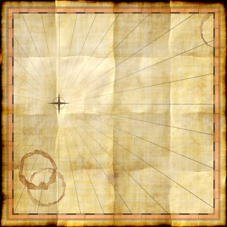 africa antique: Empty map template on old paper with coffee stains