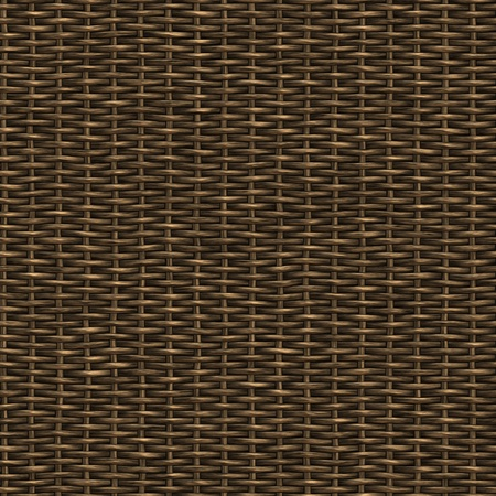 wooden weave of wicker basket background photo