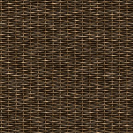 wooden weave of wicker basket background photo