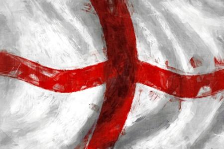 bandera inglaterra: Bandera de Inglaterra, de fondo la pintura abstracta