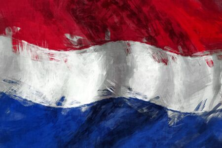 Netherlands flag abstract painting background Stock Photo - 13551778