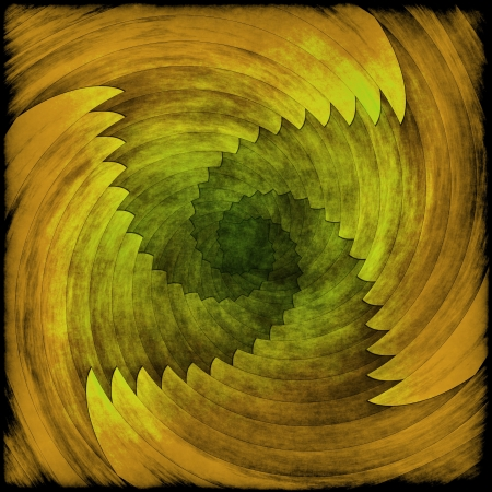 grudge: Spiral abstract yellow grudge background or texture Stock Photo