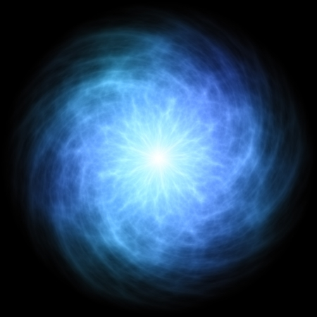 Blue energy ball Stock Photo - 15779268
