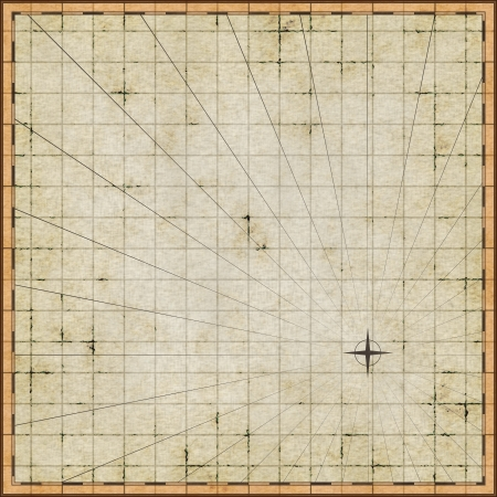old world map: Empty map template on old paper