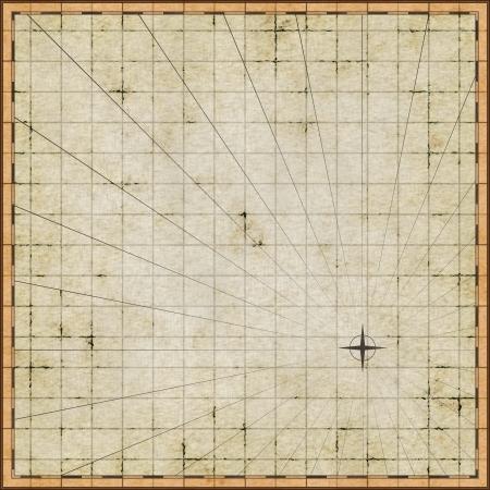 Plantilla de mapa vacío en el papel viejo Foto de archivo
