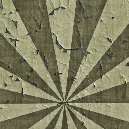 grudge: Grudge sunburst at military camouflage colors background Stock Photo