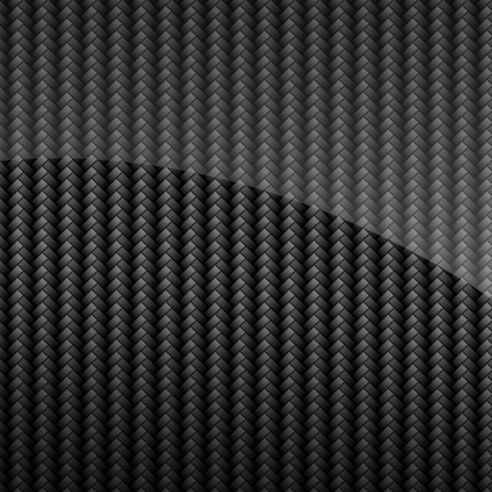 threaded: Black glossy carbon fiber background or texture Stock Photo