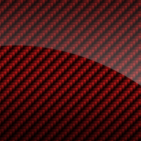 Red glossy carbon fiber background or texture photo