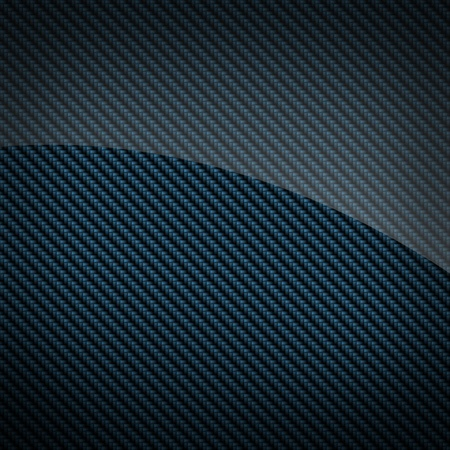fibre: Blue glossy carbon fiber background or texture Stock Photo