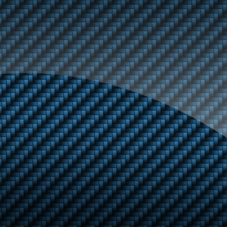 composite: Blue glossy carbon fiber background or texture Stock Photo