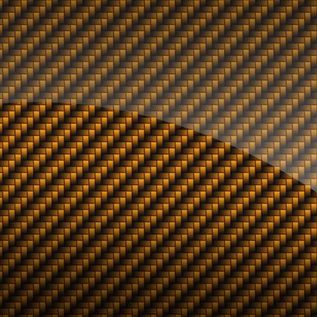 carbon fiber: Oro carbono brillante fondo o la textura de fibra