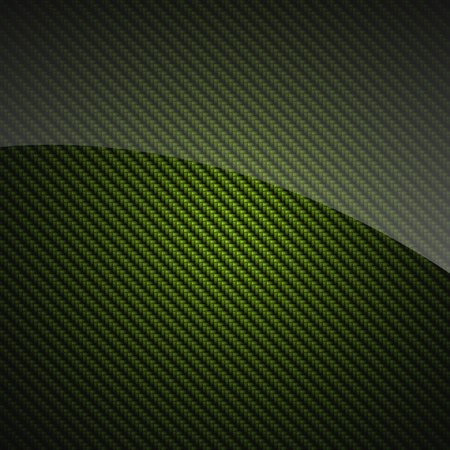 carbon fibre: Green glossy carbon fiber background or texture