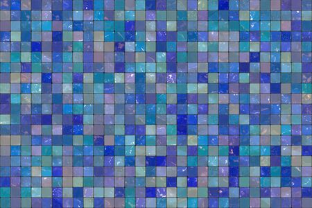 Blue wall tiles background photo