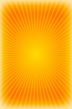 Orange sunburst background or texture photo
