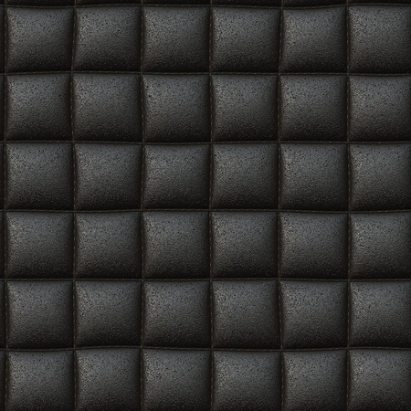 Black leather seamless background or texture photo