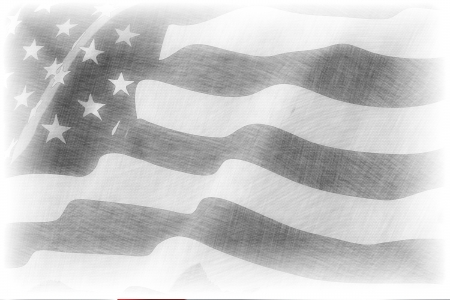 American flag pencil drawing photo