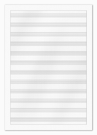 educational material: Blank music paper isolated on white