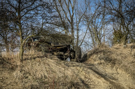 ogrodzieniec: OGRODZIENIEC, POLAND - March 19. Off-road Penrite H6 4x4 competition on March 19, 2016 in Ogrodzieniec, Poland