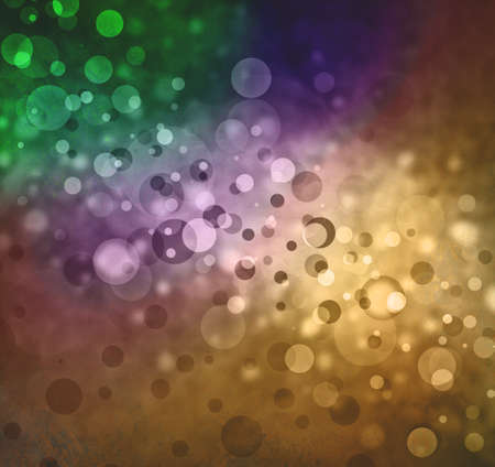 rainbow colors of bokeh lights background, beautiful floating bubbles in shades of the rainbow with bright sunny center light and darker border, round circle shapes in glittering sparkling layers