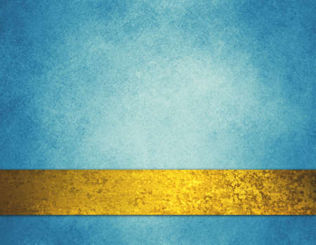 abstract blue background gold ribbon and vintage texture design 版權商用圖片