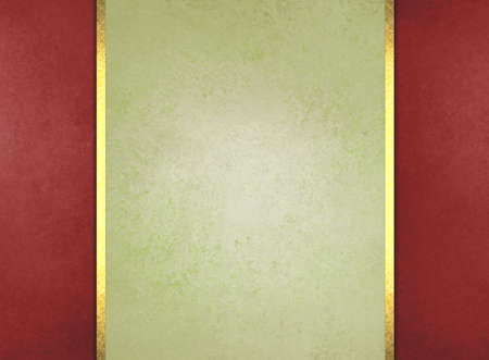 formal light green paper background with red border and gold ribbon or stripe layers, has vintage distressed texture, elegant Christmas background color photo