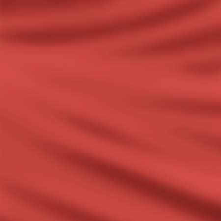 elegant red draped cloth background illustration, beautiful silk fabric folds with creases and wrinkles, wavy graphic art image, smooth wave design background, red color and smeared cloth texture