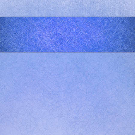 bright blue background with dark blue ribbon or stripe design layout, blank template, faded white linen canvas texture photo