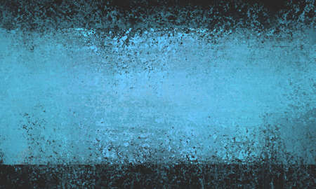 smeared: black blue background, blue striped grunge texture center with black borders, shiny blue smeared paint rectangle web backdrop, abstract blue and black background Stock Photo