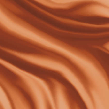 elegant draped cloth background illustration, beautiful silk fabric folds with creases and wrinkles, wavy graphic art image, smooth wave design background, light orange color and smeared cloth texture illustration