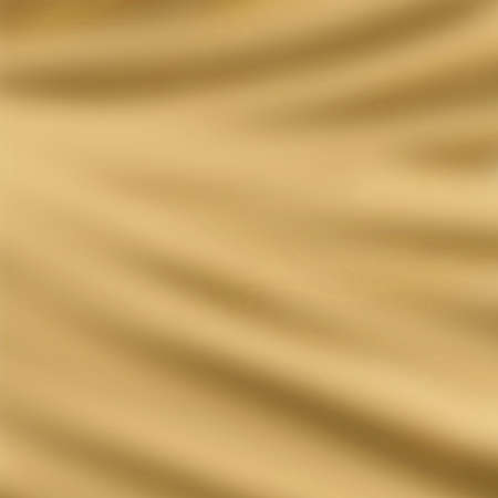 satiny cloth: elegant draped cloth background illustration, beautiful silk fabric folds with creases and wrinkles, wavy graphic art image, smooth wave design background, light gold color and smeared cloth texture