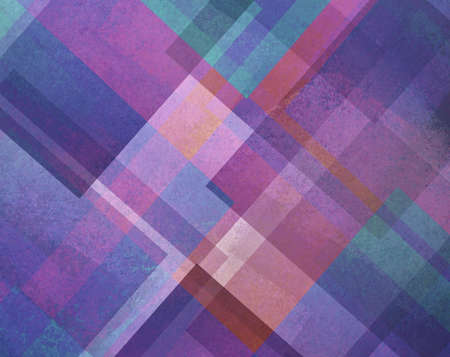 diamond shaped: abstract purple blue and pink square and diamond shaped transparent layers in diagonal pattern