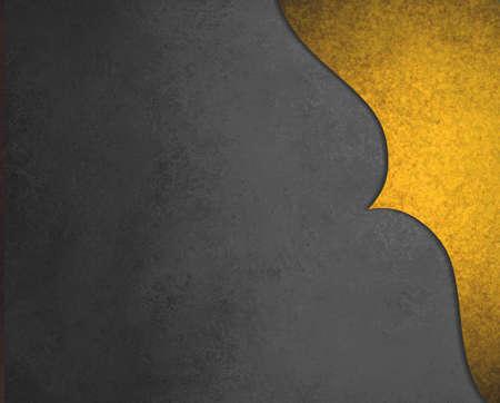 elegant black background paper with shiny gold corner border with wavy curve and vintage texture design element 版權商用圖片