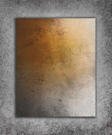 spattered: layered gray orange background textures with shadow drop and vintage grunge background texture design Stock Photo